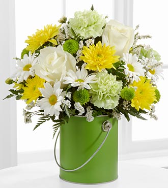 The FTD Color Your Day With Joy Flower Bouquet - Vase Included