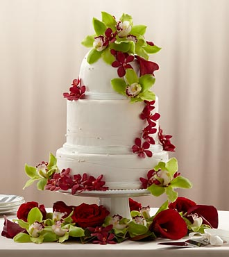 The FTD Elegant Orchid Cake DÉCor