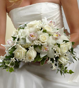 The FTD White On White Flower Bouquet