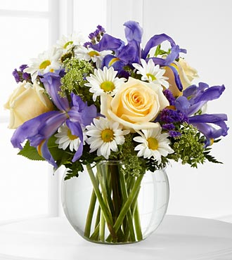 The FTD Sweet Beginnings Flower Bouquet - Vase Included